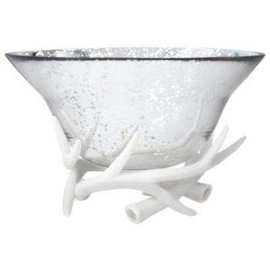 Threshold Mercury Glass & Ceramic Antler Bowl